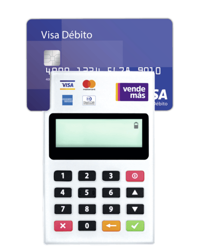 Con poket VendeMás recibes Visa, Mastercard y todas las tarjetas financieras del mercado.