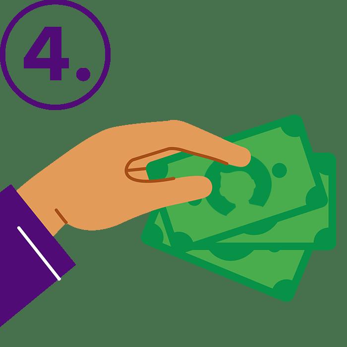 Recibirás el abono de tus ventas en tu cuenta bancaria dentro de las 48 horas útiles
